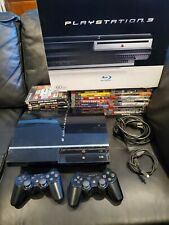 PlayStation 3 60GB Console PS3 (CECH-A01) Backwards Compatible W/ 27 Games & Box