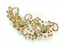 Silver & Gold Bridal Bridesmaid Wedding Hair Comb Clip Rhinestone Diamante Prom