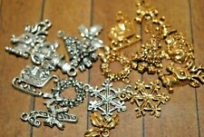16 pieces of metal Christmas Charms - Was $33 - 14mm to 20mm - A1231a+