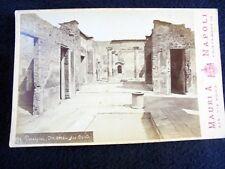 OLD ALBUMEN/CABINET CARD: POMPEI~MAISON DE POÈTE~ca 1875~PHOTO: ACHILLE MAURI