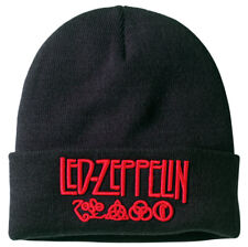 Led Zeppelin 'Logo' (Black) Beanie Hat - Amplified - NEW & OFFICIAL!