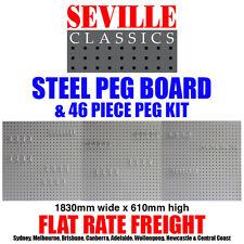 SEVILLE CLASSICS Steel Peg Board Peg Kit UHD20224E Hanging Tool Garage Storage