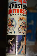 Lot 4 posters IKKITOUSEN - Dragon Destiny