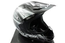 LAZER X5 FREE RIDE FULL FACE CYCLE BMX DOWNHILL BIKE HELMET BLACK/GREY XXXS NEW