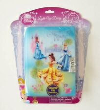 Disney PRINCESS LIGHT UP Diary & Earrings & Ring GIFT SET +FREE Stickers JOURNAL