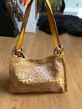 CLAUDIA FIRENZE HAND-TOOLED LEATHER SUEDE WOMEN PURSE!!