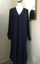 COS Shirt Dress Blogger Fave Midi Maxi Dress Pockets! Navy Minimalistic Size 12