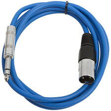 "SEISMIC AUDIO Blue 1/4"" TRS to XLR Male 6' Patch Cable"
