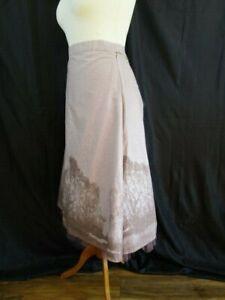 Bohemia Ladies Mauve skirt netting underlay. Lagenlook.Summer UK 10/12/14