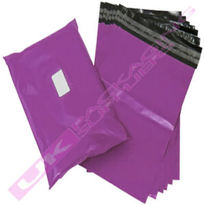 """50 x LARGE 12x16"""" PURPLE PLASTIC MAILING SHIPPING PACKAGING BAGS 60mu S/SEAL"""