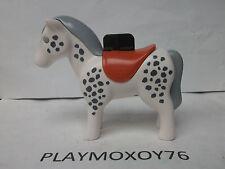 PLAYMOBIL 1.2.3. TIENDA PLAYMOXOY76.  CABALLO PINTO.
