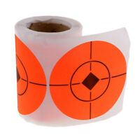 """100pcs/roll 3"""" Self adhesive Orange Target Stickers for Shooting Hunting"""