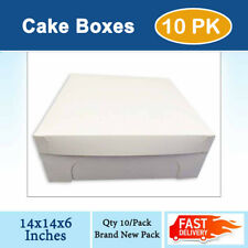 CAKE BOXES 14x14x6 Inches Qty 10/Pack Brand New - Wedding Cake Box - Cupcake Box