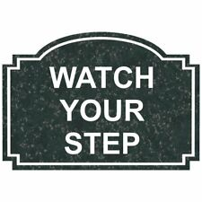 ComplianceSigns Engraved Plastic Watch Your Step Sign, 5 X 3.50 in. with...