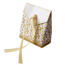 1/100PCS Gold&Silver Wedding Favour Favor Sweet Cake Gift Candy Boxes Party Bag