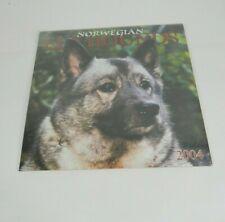 Norwegian Elkhound - 2004 Wall Calendar - Brand New