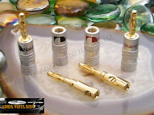 ♫ 2 PAIRES FICHES BANANES NAKAMICHI GOLD ENCEINTES ♫