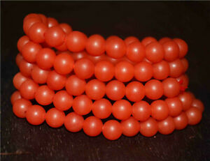 tibetan 108 prayer beads mala pema raka bracelet red nanhong rosary necklace