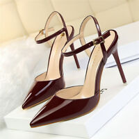 Sexy Women's Slip on Stiletto High Heels Pointed Toe Dress Party Pumps Shoes New