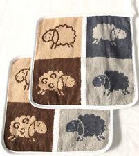 2 x Potholder Sheep Terry Kracht Kitchen Terry Cloth DECO LAMBS Gray Brown
