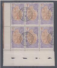 FRANCE COLONIES BLOC DE 6 COTE DES SOMALIS n 80 OBLITERES COTE 180+ BORD FEUILLE