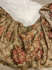 Ralph Lauren Guinevere King Bed Skirt Floral EUC!