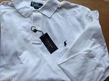 Polo Ralph Lauren Longsleeve White Mesh Polo Shirt 4X Big Men $95 FreeShip