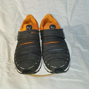 Puma Osu NM Dark Grey & Orange Low Hook & Loop Strap Mens Running Trainers 18568