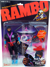RAMBO - S.A.V.A.G.E. - The Enemy of Rambo - Black Dragon Figure - New! MOSC!!