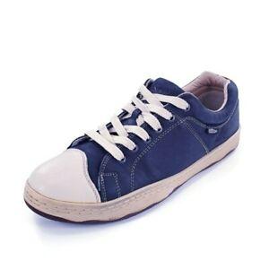 Simple Original Blue Leather Cap Toe Lace Up Casual Sneakers Men's 11 M Shoes