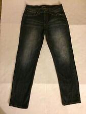 RSQ Melbourne Whiskered Dark Wash Skater Straight Leg Mens Jeans Size 31 L30.5