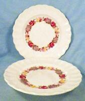 2 Copeland Spode Rose Briar Bread & Butter Plates Chelsea Wicker Floral 2/7896 2