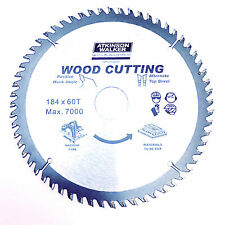 "184mm (7.1/4"") x 30/20/16mm BORE x 60 TOOTH TCT PRO CIRCULAR SAW BLADE FOR WOOD"