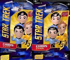 Lot of 2  Sealed Blind Bags -- Star Trek Chibis with 3 Mini Figures Per Pack