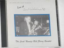 JACK NIMITZ & BILL BERRY -Live At Capozzoli's- CD
