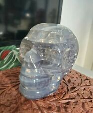 Used ~3 inch Original 3D Crystal Skull Puzzle Clear 48 Pieces Level 2 No Box US
