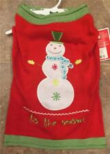 """DOG Sweater ~  TIS THE SEASON Christmas Themed ~ L Large (17-19"""" neck-tail)~ NEW"""