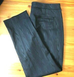 BOSS Hugo Boss Size 14 AU Black Textured Trousers Pants Pristine Condition