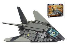 Army Air force F-117A Stealth Fighter Bomber c/w figure Building Bricks 209pcs