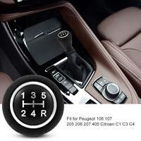 5 Velocidades Perilla Palanca de Cambio Pomo Marchas para Peugeot Citroen C1/3/4
