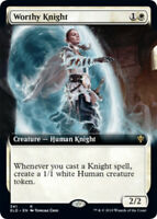 Worthy Knight - Foil - Extended Art x1 Magic the Gathering 1x Throne of Eldraine