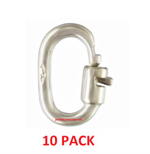 TEN STERLING SILVER 925 Link Lock Jump Ring Bail Charm Connector Clasp 4.5mm