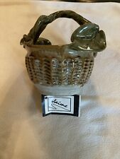 Jaime Art Pottery Handcrafted Leaf Basket