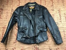 VTG Harley Davidson Cruiser Embossed Eagle Leather Jacket Size L W