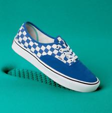 Vans Comfycush Authentic Checkerboard Lapis Blue Men's Skate Shoes Size 9