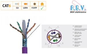 Cavo di rete FTP centrale schermato UTP ethernet LAN cat 6 di rame TELEVES 1Gbps