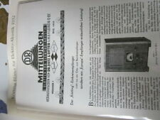 Rundfunk Edition 6 Körting Blätter für Elektroakkustik 1932
