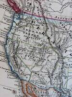 Territorial United States transitional North America 1860 von Stulpnagel old map