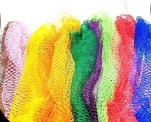 "African Bath & Shower Full Exfoliating Bathing Net Sponge 40"" Long Various Color"