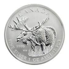 2012 $5 One Ounce *Silver Canada Maple Leaf Wildlife Moose* 1 oz. Bullion Coin